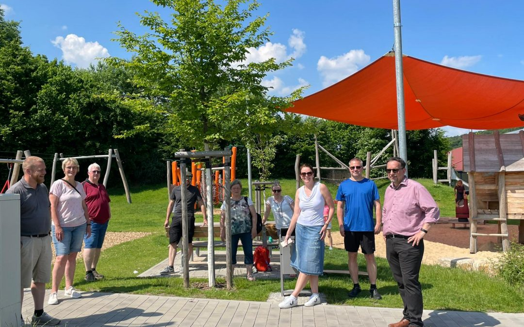Bürgerliste besichtigt neues Freizeitgelände in Krombach